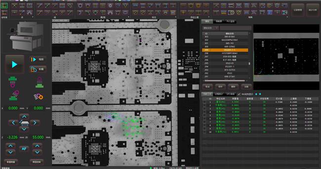 VX9000扫描式影像测量机:一键测量PCB孔径、孔距、线宽、线距、平面度……